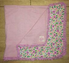 Carters JOY Purple Baby Blanket Love The Little Things Stripes Flowers Turtles