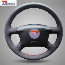 Black PU Leather Steering Wheel Cover for VW Golf 4 Seat Alhambra VW Passat B5