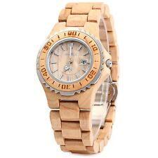 GearBest BEWELL Wooden Women Quartz Watch with Luminous Hands Metal Case 30M ...