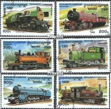 Cambodia 1585-1590 (complete issue) used 1996 Locomotives died.