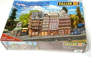 Faller NEUF Set stadt Bergheim 4 immeubles bourgeois + kisoque 5 kits sous film