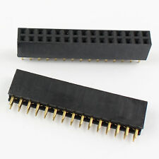 10Pcs Pitch 2.54mm 2x15 Pin 30 Pin Female Double Row Straight Pin Header Strip