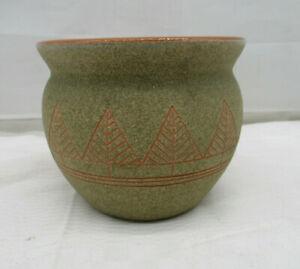 "Design Keramik Ton Vase Übertopf Blumentopf ""Bäume"" signiert"