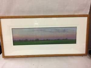 """Framed Signed """"Evensong"""" Pastel Painting by Lee Kimball 1998"""