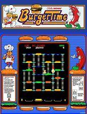 "TIN SIGN ""Burgertime""  Video Games Art Deco Garage Wall Decor"