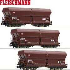 "Fleischmann N Selbstentladewagen-Set ""Falns183"" der DB AG 3-teilig - NEU"