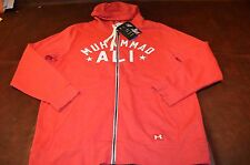 NWT MSRP $79 Under Armour Roots Of Fight Muhammad Ali Fleece Zip Hoodie Red Med