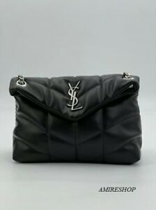 Saint Laurent Loulou Puffer Shoulder Bag, Size Medium - Black