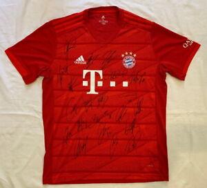 2019-20 Bayern Munich team signed soccer jersey Alphonso Davies +20 *PROOF