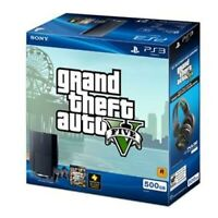 Sony PlayStation 3 Gaming Console 500GB Grand Theft Auto V Very Good 2Z