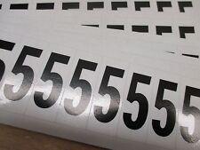"Number Black Label 5,1-3/4""X7/8"" Pk5 (M1116)"