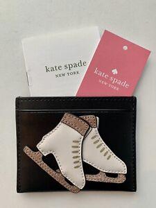 NWT Kate Spade Winter Wonderland Ice Skating Card Holder Leather RP $79
