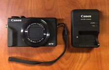 Canon PowerShot G7 X Mark II Camera 3 Batteries and Charger (PERFECT CONDITION)