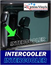 Intercooler window decals x 2. truck stickers graphics volvo daf scania