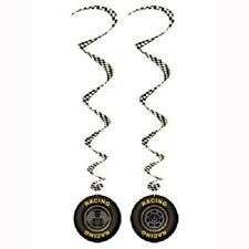 """""""CARS  RACING""""  Pack of 3 -  Racing Tires Whirls Hanging Decorations!"""