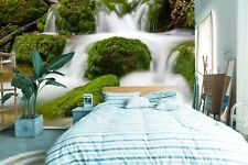 3D Waterfall 484NAO Business Wallpaper Wall Mural Self-adhesive Commerce Amy