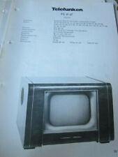 Schaltplan Fernseher Telefunken FE 8 aT 1952/53
