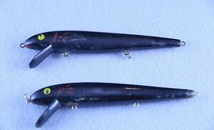 (2) Cotton Cordell Red Fin Lures - Black
