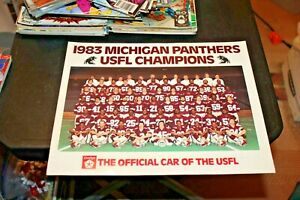 """1983 Michigan Panthers USFL Champions Dodge Dealers Promo team picture 11"""" x 14"""""""
