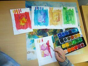 Kunstunterricht Religionsunterricht Paul Klee Engel Karten Monochrom Kopiervorl.