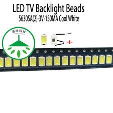 100pcs/lot led 5630sa 3v 0.5w cool white for repair samsung led tv  backlight