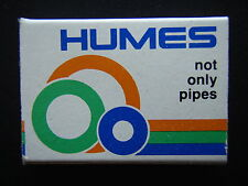 HUMES CONCRETE PLASTICS NOT ONLY PIPES PUTTING KNOWLEDGE INTO ACTION MATCHBOX
