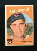 1959 Topps BB Card #301 Earl Averill Chicago Cubs NM-MT OR BETTER