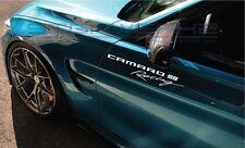 "Camaro SS Racing Decal Sticker logo Silverado Truck logo impala SS RS 2 12"" Pair"