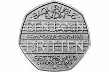 Special edition Benjamin Britten 50p Coin Rare Coin In Used Condition