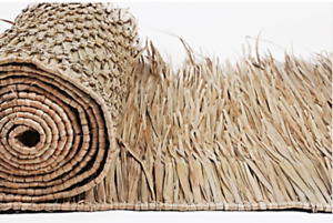 """Mexican Palm Thatch Roll 30"""" Wide  x 8' Long Runner"""