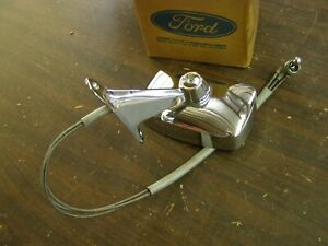 NOS OEM 1970 Ford Mustang Chrome Mirror - Remote Control
