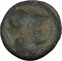 Side in Pamphylia 3rd-2nd Cent BC Ancient Greek Coin Athena Pomegranate i48322