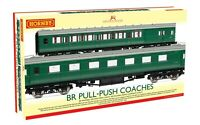 Hornby R4534E Pull-Push Passenger Coach Twin Pack Maunsell Ex-SR - OO Gauge