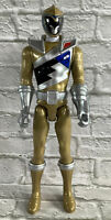 "Power Rangers Dino Charge Gold Ranger 12"" Poseable Action Figure 2014 Bandai SCG"