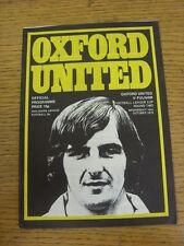 10/10/1973 Oxford United V Fulham FOOTBALL LEAGUE CUP []. questo oggetto è stato INS