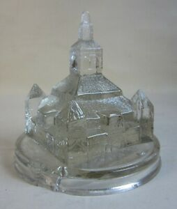 1887 Sioux City Corn Palace Figural Glass Paperweight Souvenir Iowa