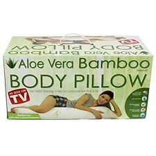 Hypoallergenic Aloe Vera Bamboo Memory Foam Full Body Pillow Brand New in Box