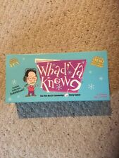 Pre Owned, But Cards Never Opened, WHAD'YA KNOW? The Not Much Know. Party Game.
