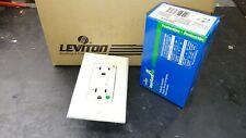 NEW 10 pack Leviton Hospital Grade (7899-HGA) 20A GFI GFCI ALMOND Decora Outlet