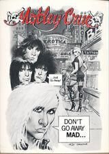 Motley Crue The Night of a Thousand Umlauts! RARE promo postcard '90