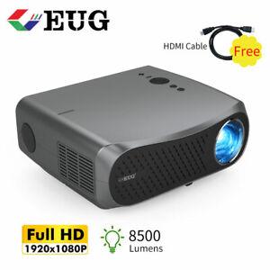 8500Lumen Native 1080P Projektor 4K Video Office Party Mit 120IN Bildschirm DE