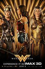"""Wonder Woman poster - 11"""" x 17"""" - Gal Gadot, Diane Kruger - (2017)"""