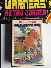 Nintendo Famicom Family Derby Winning Post Horse Racing Game W/ Manual Boxed