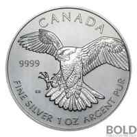 2014 Silver 1 oz Canada Birds of Prey Falcon