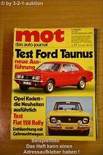 MOT 17/71Ford Taunus Fiat 128 Rally Honda N 600