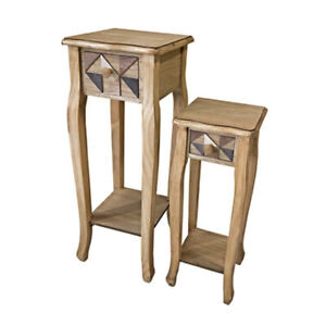 Casamoré Marrakesh Wooden Set Of 2 Tables with Drawers