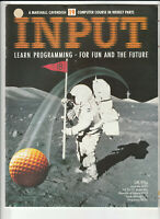 INPUT Vintage Computer Programming Magazine Issue 19 From 1984
