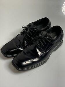 Claiborne 10M Black Tuxedo Patent Leather Oxford Dress Shoes Men