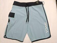 """RVCA New Eastern Trunk Swim Boardshorts 20"""" Men's Size 32 Blue"""
