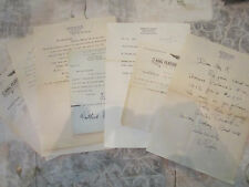 Lot of Eight Signed Letters from Westbrook Pegler Right Wing Journalist Critic